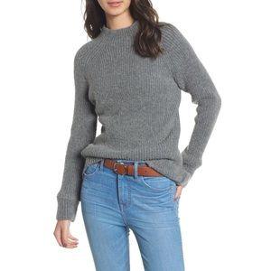 Madewell Northfield Grey Mockneck Sweater